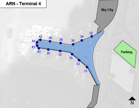 Stockholm Arlanda ARN Terminal Map