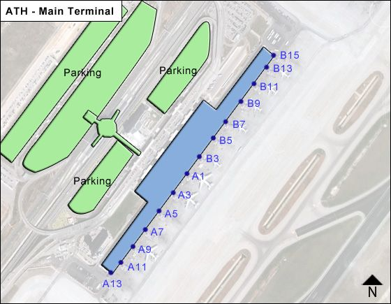 Spata Artemida  Airport Main Terminal Map