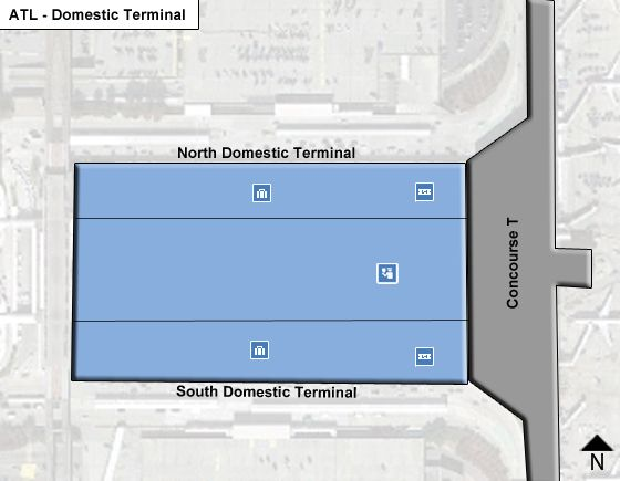 Atlanta Airport Domestic Terminal Map