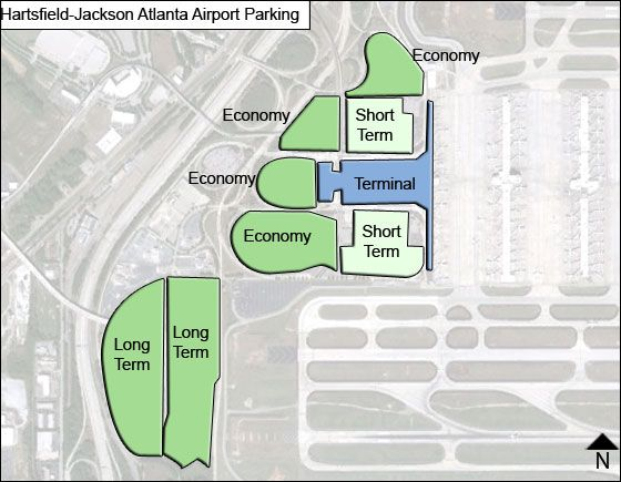 Atlanta Airport Parking Map Hartsfield Jackson Atlanta Airport Parking | ATL Airport Long Term  Atlanta Airport Parking Map
