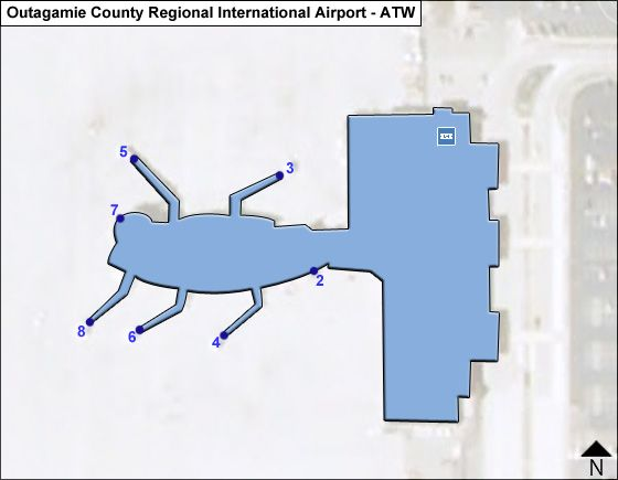 Appleton Airport International ATW Terminal Map