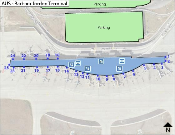 Austin Airport Overview Map