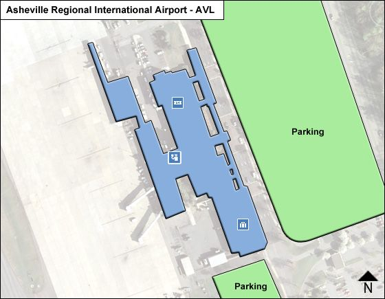 Airports In Nc Map.Asheville Regional Avl Airport Terminal Map