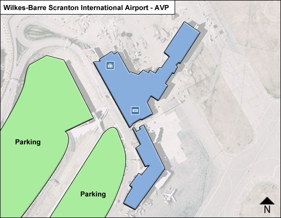 Avoca Airport Overview Map