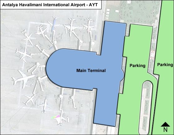 Havalimani Airport Overview Map