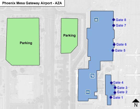 PhxMesa Gateway AZA Terminal Map