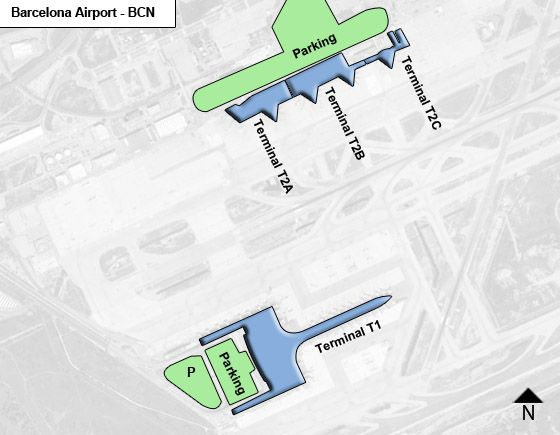 Viladecans, Catalonia Airport Overview Map