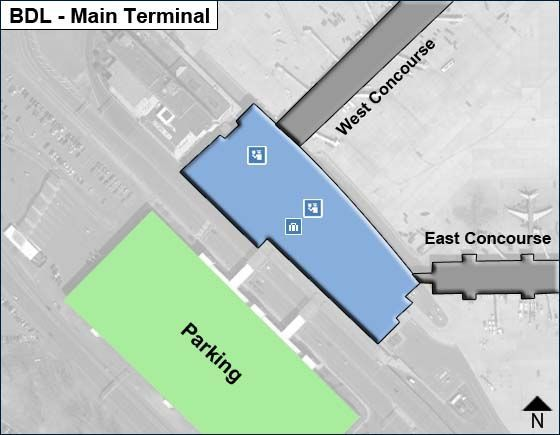 Windsor Locks Airport Overview Map