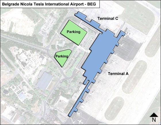 Belgrade Nicola Tesla BEG Terminal Map