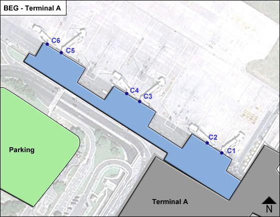 Belgrade 59 Airport Terminal C Map