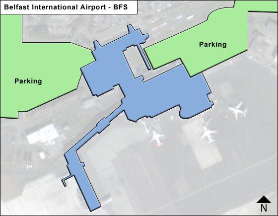 Belfast BFS Terminal Map
