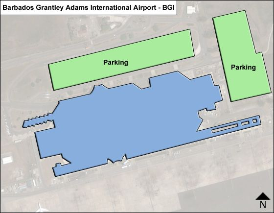 Barbados Grantley Adams BGI Terminal Map
