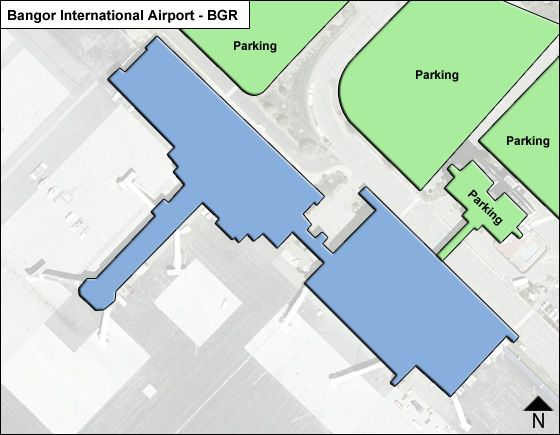 Bangor Airport Overview Map