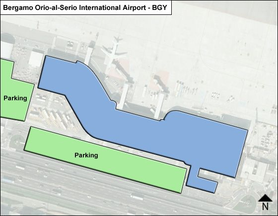 Bergamo Orio-al-Serio BGY Terminal Map