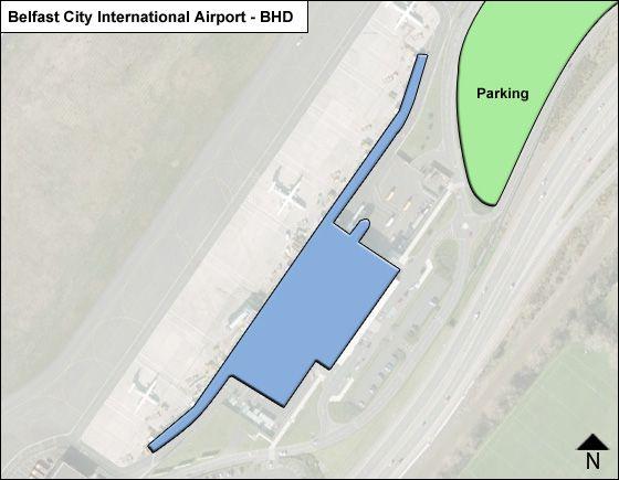 Belfast, Northern Ireland Airport Overview Map