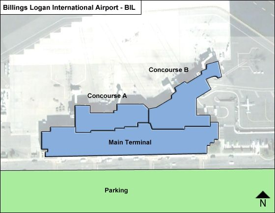 Billings Logan BIL Airport Terminal Map