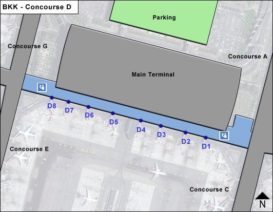 Baan Phli / Samut Prakan Airport Concourse D Map