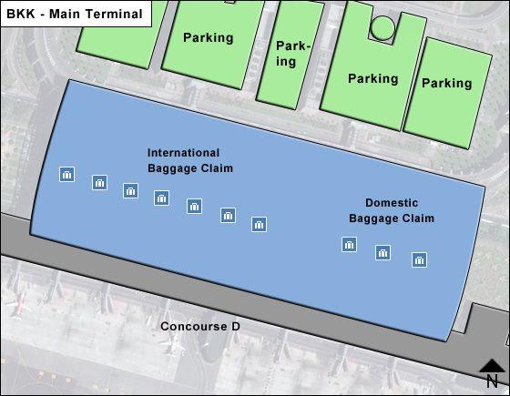 Baan Phli / Samut Prakan Airport Main Terminal Map