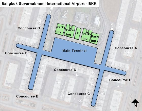 Baan Phli / Samut Prakan Airport Overview Map