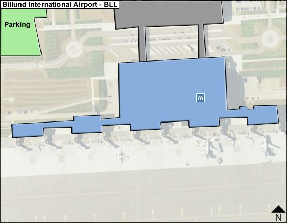 Billund Airport Overview Map