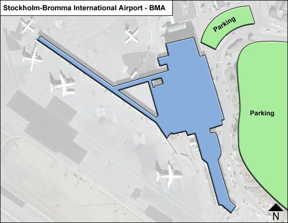 Stockholm-Bromma BMA Terminal Map