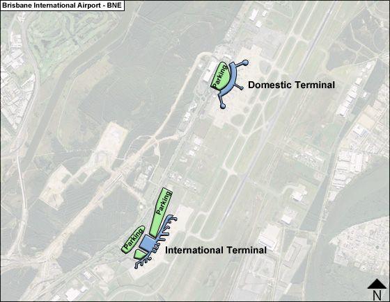 Brisbane BNE Terminal Map