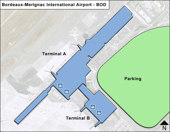 Bordeaux-Merignac BOD Terminal Map