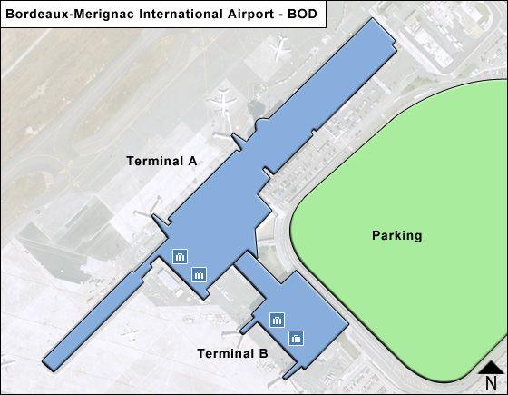 Merignac Airport Overview Map