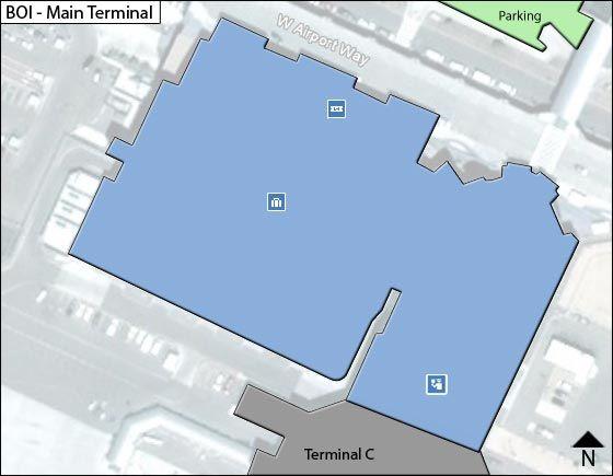 Boise Airport Main Terminal Map