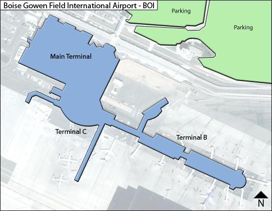 Boise BOI Terminal Map