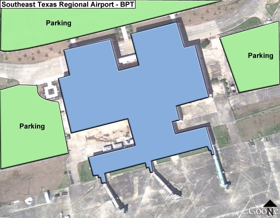 Beaumont Jack Brooks Regional BPT Terminal Map