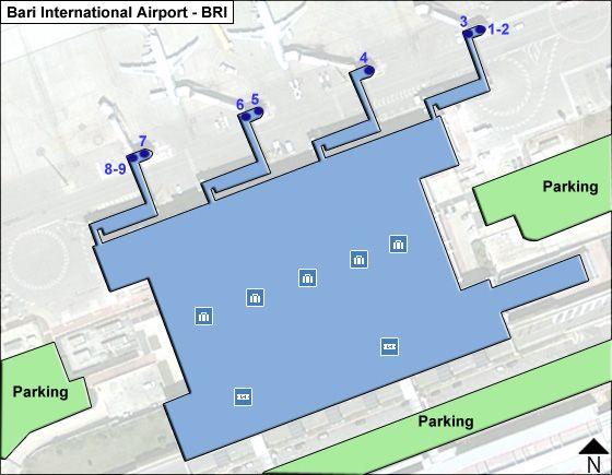 Bari di Puglia BRI Terminal Map