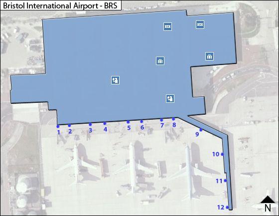 Bristol BRS Terminal Map