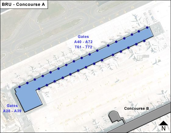 Zaventem Airport Concourse A Map