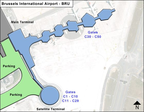 Zaventem Airport Concourse C Map