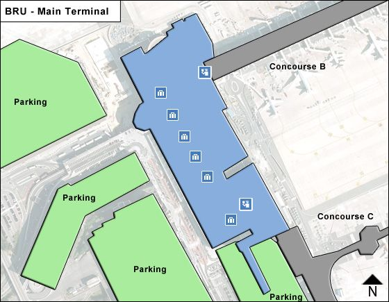 Zaventem Airport Main Terminal Map