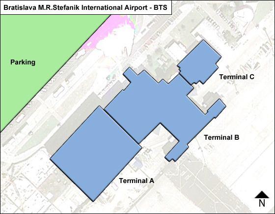 Bratislava II Airport Overview Map