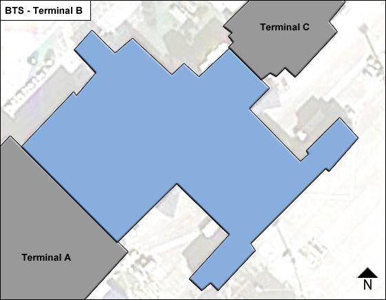 Bratislava II Airport Terminal B Map