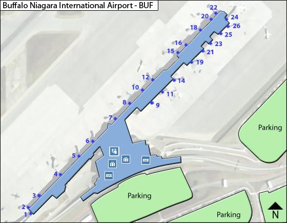 Buffalo Airport Overview Map