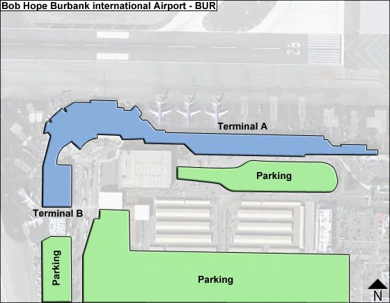 Hollywood Burbank  BUR Terminal Map