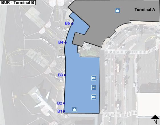 Burbank Airport Terminal B Map