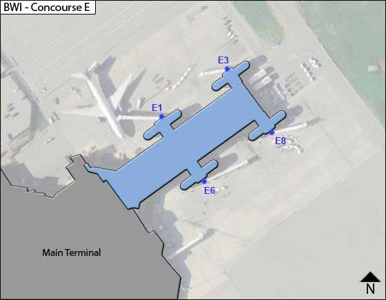 Baltimore Airport Concourse E Map