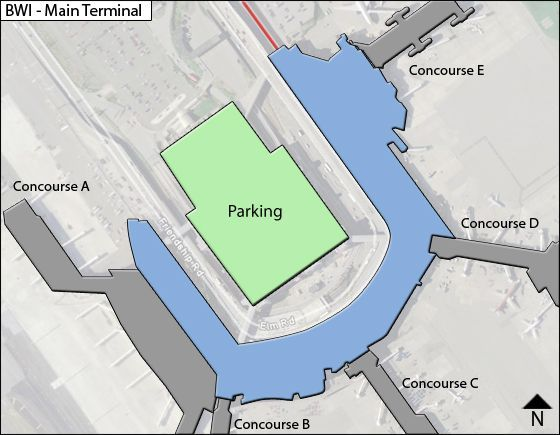 Baltimore Airport Main Terminal Map