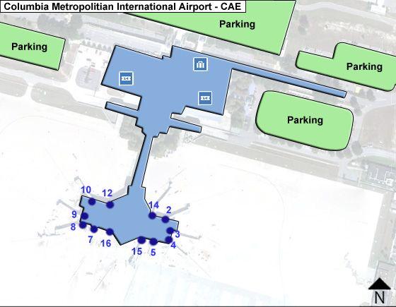 Columbia Metropolitian CAE Terminal Map