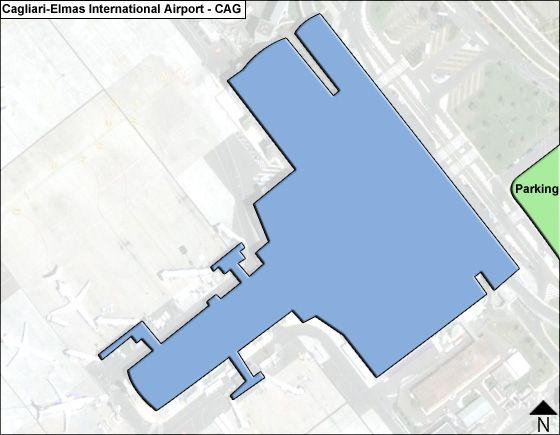 CagliariElmas CAG Airport Terminal Map