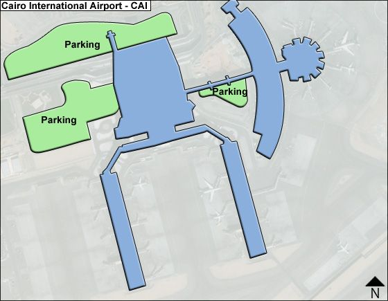 Cairo International CAI Airport Terminal Map
