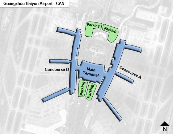 Xinhua - Huadu District Airport Overview Map