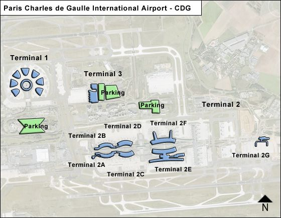 Roissy   Airport Overview Map