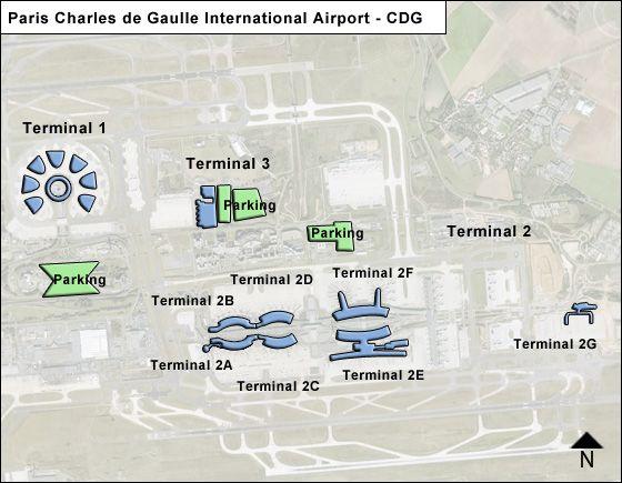 paris de gaulle cdg airport terminal map