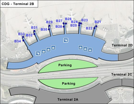 Roissy   Airport Terminal 2B Map